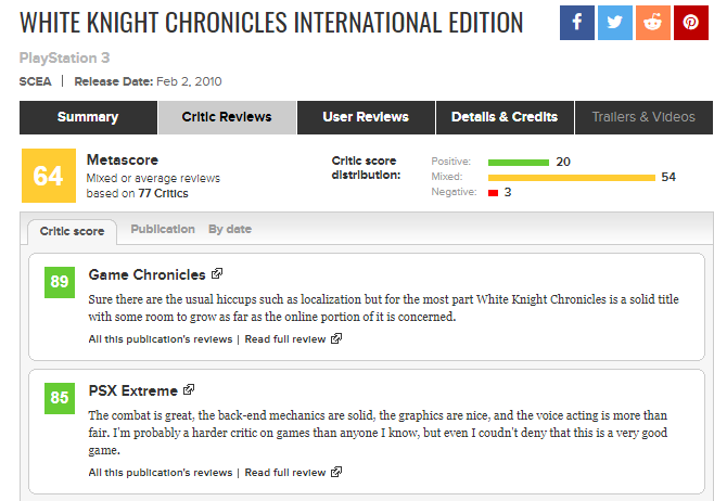 White Knight Chronicles International Edition Critic Reviews for PlayStation 3   Metacritic.png
